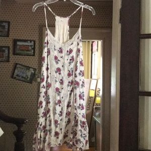 Cute floral off white summer dress